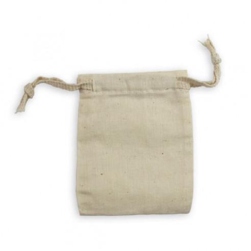 Pochette en coton écru