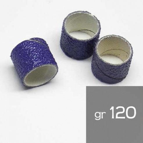 10 Manchons abrasif 13x13mm grain 120