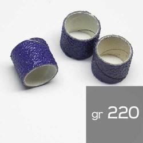 10 Manchons abrasif 13x13mm grain 220