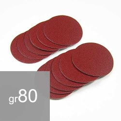 12 Disques abrasifs grain 80