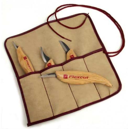 Set de 4 couteaux de sculpture FLEXCUT